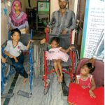 Wheel Chair distribution to disable at CASP PLAN Delhi