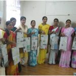 Vocational training of making paper bags